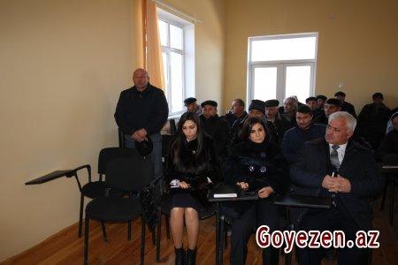 Sərhəd kəndində 2016-cı ildə görülmüş işlərə dair hesabat yığıncağı keçirilib