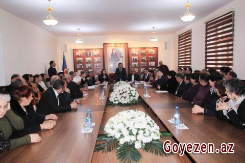 """BDU-nun Qazax filialında """"Qazax mahalının alimləri"""" kitabının təqdimatı olub"""