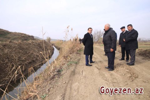 Qazaxda 261 km uzunluğunda olan su kanal və arxları təmizlənir