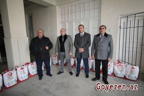 Qazax Sement Zavodunda şəhid ailələrinə bayram sovqatları verilib