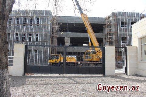 Qazax rayon Mərkəzi Xəstəxanasının tikintisində əsas işlər görülüb