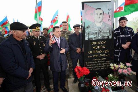 Aprel şəhidi kapitan Mühüd Orucovun ildönümü qeyd olunub