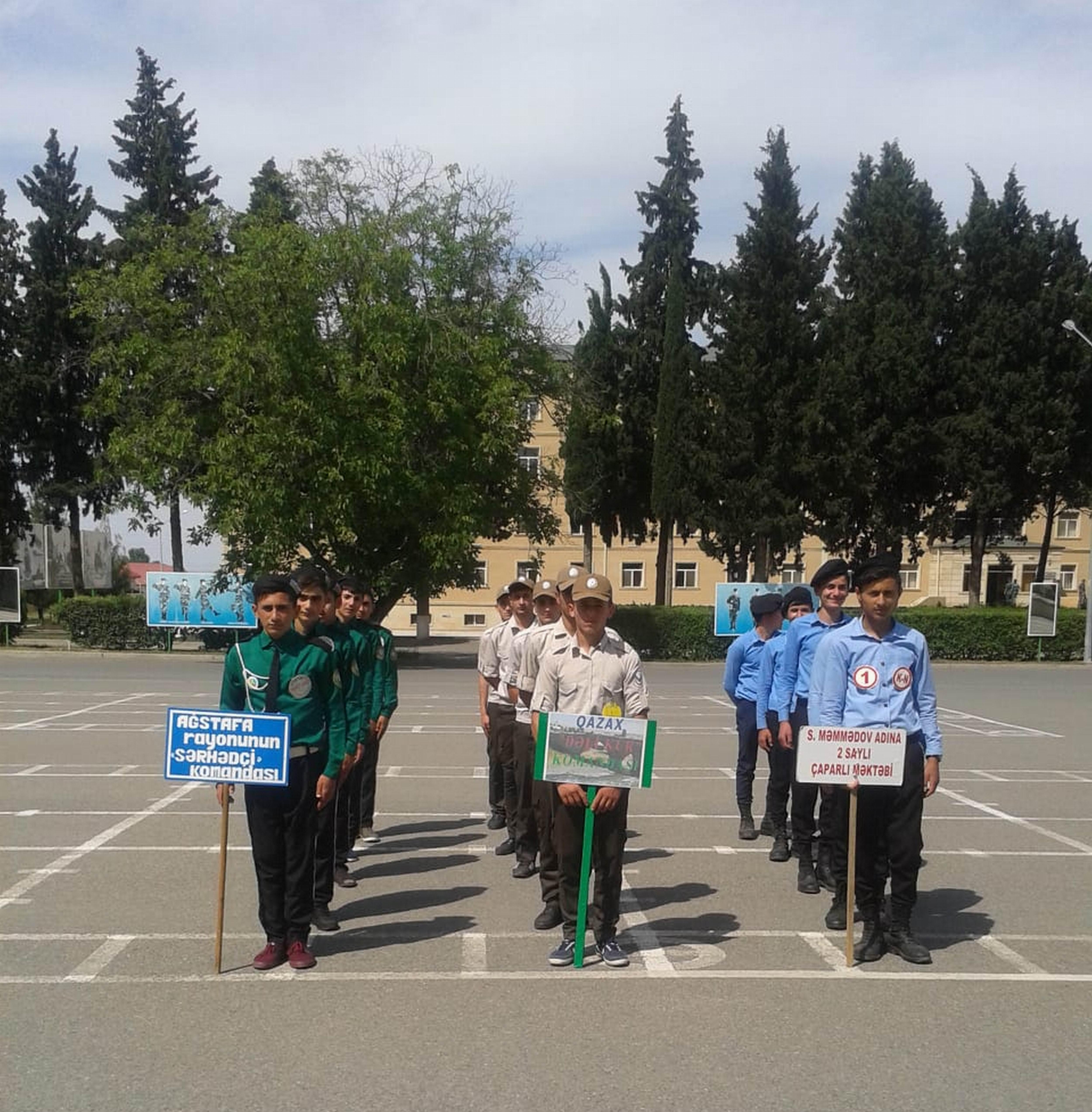 """""""Sərhəd"""" hərbi-idman oyunlarınn zona yarışları keçirilib"""