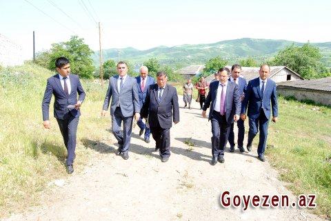 Məzəm kəndinə istinad divarları çəkilir