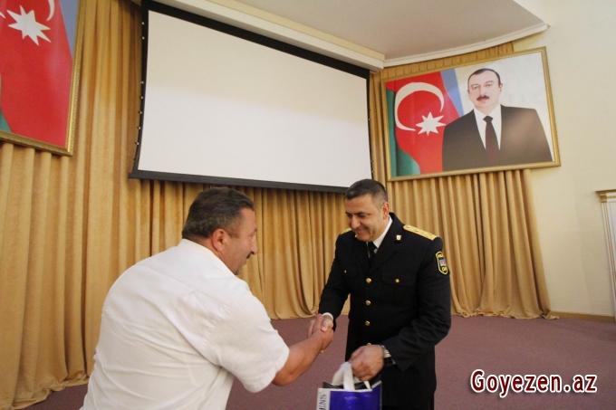 Polis işçilərinin peşə bayramı Qazaxda da qeyd edilib