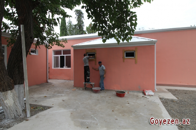 3 saylı körpələr evi-uşaq bağçasında son tamamlanma işləri görülür