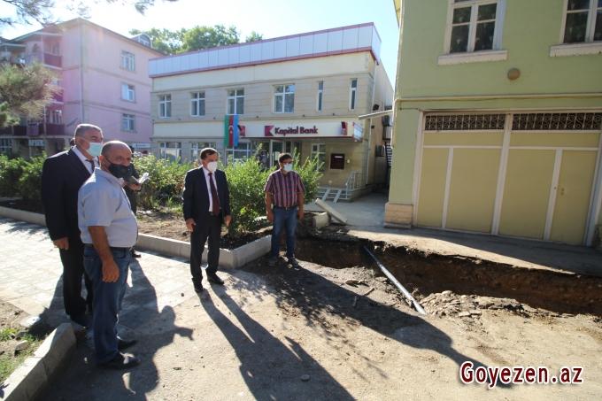 Qazaxda su-kanalizasiya sisteminin çəkilişi ilə yanaşı, abadlıq işləri də aparılır