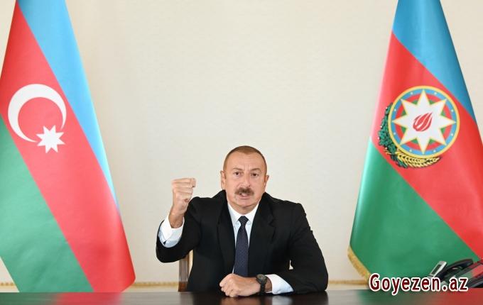 """Prezident İlham Əliyev: """"Qarabağ bizimdir, Qarabağ Azərbaycandır!"""""""